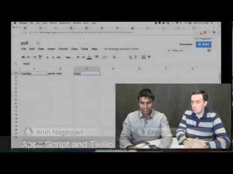 Using Apps Script with Twilio