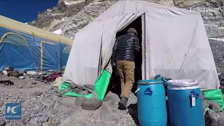 Green efforts on Mt. Qomolangma: A trip to base camp at 6,500 meters