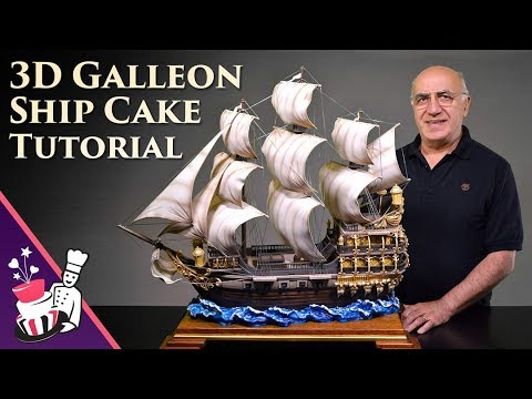 3D Galleon/Pirate Ship Cake Tutorial - Introduction and Samp