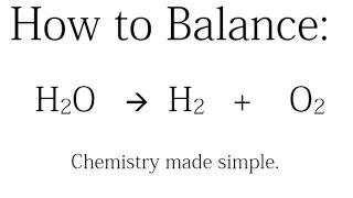 how to balance h2o h2 o2 decomposition of water