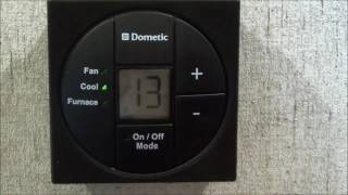 how to use dometics digital rv thermostat