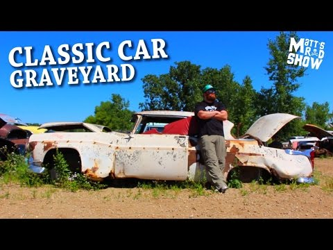CLASSIC CAR GRAVEYARD! - JUNKYARD - Exploring hundreds of rusting classic cars - Matt