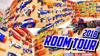 HUGE NERF WALL! Nerf Room Tour