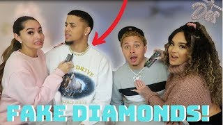 TESTING OUR BOYFRIENDS DIAMONDS!! ** FAKE DIAMONDS EXPOSED! ** FT. KB & KARLA