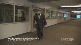 Former Minneapolis officers arrive in court in George Floyd case