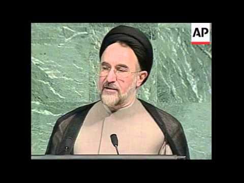 UN: IRANIAN PRESIDENT KHATAMI GENERAL ASSEMBLY MEETING SPEECH