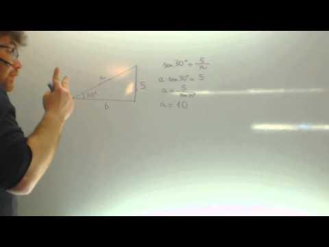 Triangulo rectangulo Cateto y angulo Calcular hipotenusa Razones trigonometricas Academia Usero