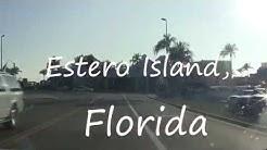 Driving the entire Estero Blvd in Estero Island, Fort Myers Florida