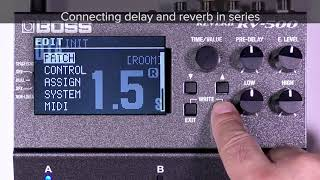Tips for RV-500 (2): How reverb and delay are connected
