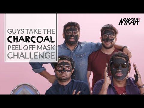 Boys Take The Charcoal Peel Off Mask Challenge | Filtercopy | Nykaa