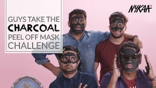 Boys Take The Charcoal Peel Off Mask Challenge | Filtercopy