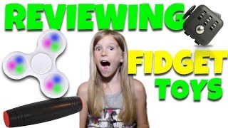 8 Year Old Reviews Fidget Toys!