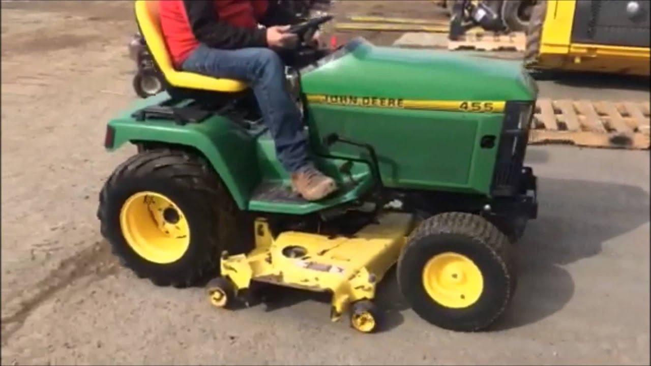 John Deere 455 Lawn Mower For Sale on Online Auction