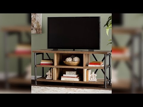 Industrial TV Stand Entertainment Center Media Console Table Flat Screen Storage