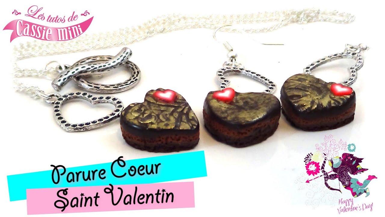 Tuto Parure Cœur St Valentin Fimo Youtube