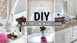 DIY BATHROOM MAKEOVER! | Decorate With Me | Before & After Tour