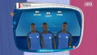 France line-up v Republic of Ireland: UEFA EURO 2016