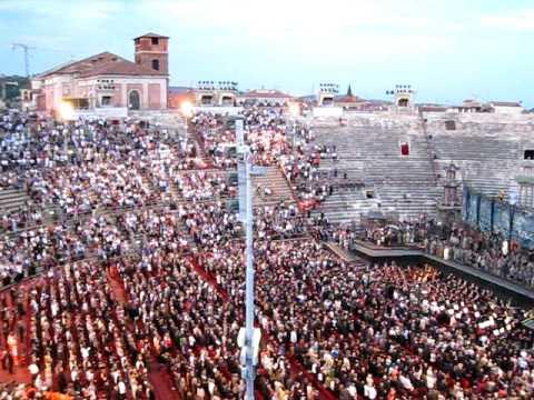 Fratelli Italia - Italy National Anthem / ARENA DI VERONA Opera 2010