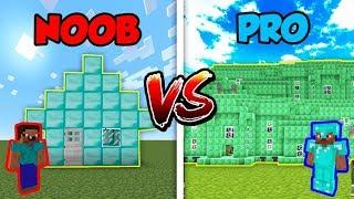 Minecraft NOOB vs. PRO: DIAMOND or EMERALD HOUSE in Minecraft!