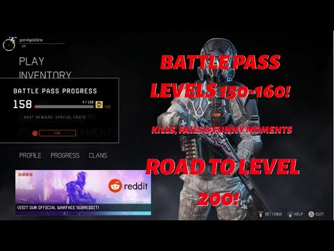 Warface [PS4] - Kills, fails and funny moments! (Battle Pass Levels 150-160)