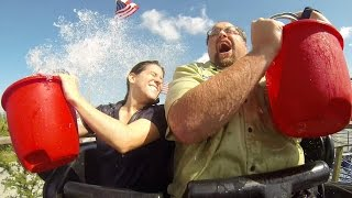 ALS Ice Bucket Challenge ... on a Roller Coaster!