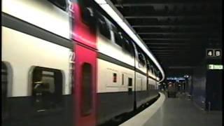 チューリッヒ空港駅にて(2002年10月末)