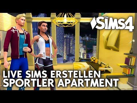 Let's Play LIVE Die Sims 4 | Sims erstellen (CAS) für das Sportler Apartment