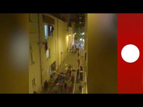 GRAPHIC: Concert-goers flee  Bataclan during Paris attack