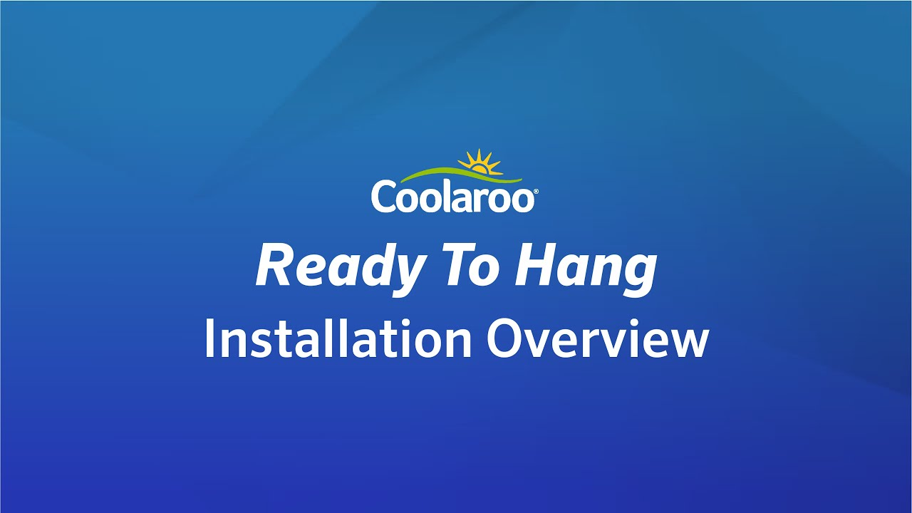 Coolaroo Ready To Hang Shade Sail Installation Overview Youtube