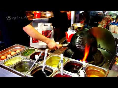 Fast Food with fast Cooking in a Chinese Wok