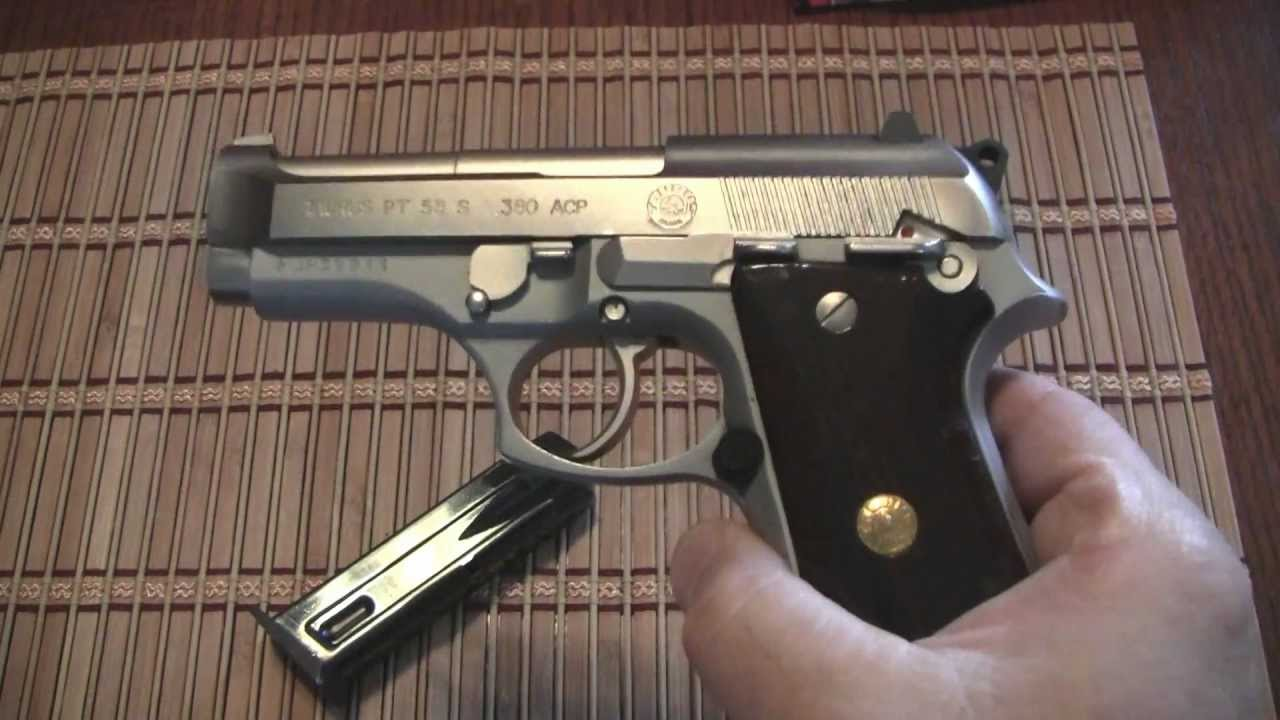 taurus pt 58 ss review stainless steel 380 with class - youtube