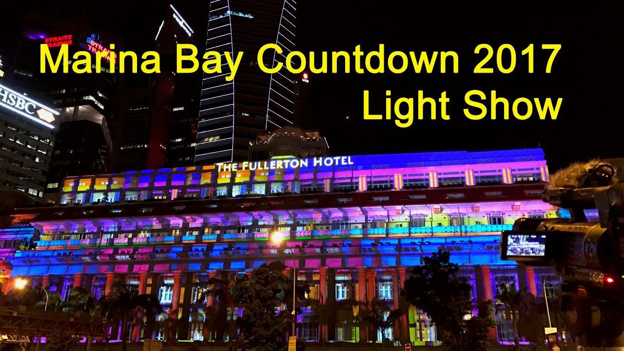 singapore marina bay 2017 countdown light show a new dawn youtube