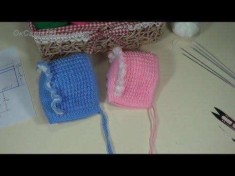 Как связать рюши крючком на детской шапочке