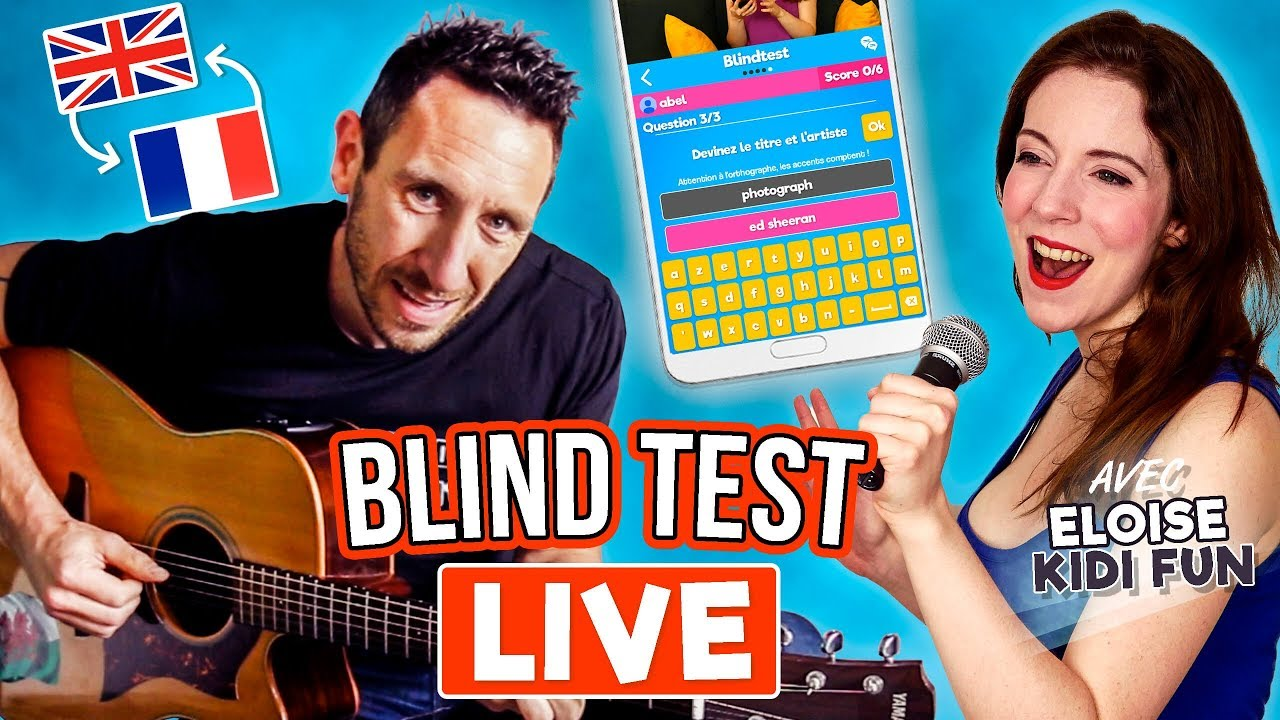 ON CHANTE, TU DEVINES ! BLIND TEST en LIVE avec Kidi Fun !