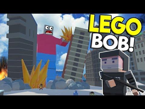 LEGO BRICK RIGS BOB MONSTER ATTACKS CITY! - Tiny Town VR Gameplay - Oculus Rift Game