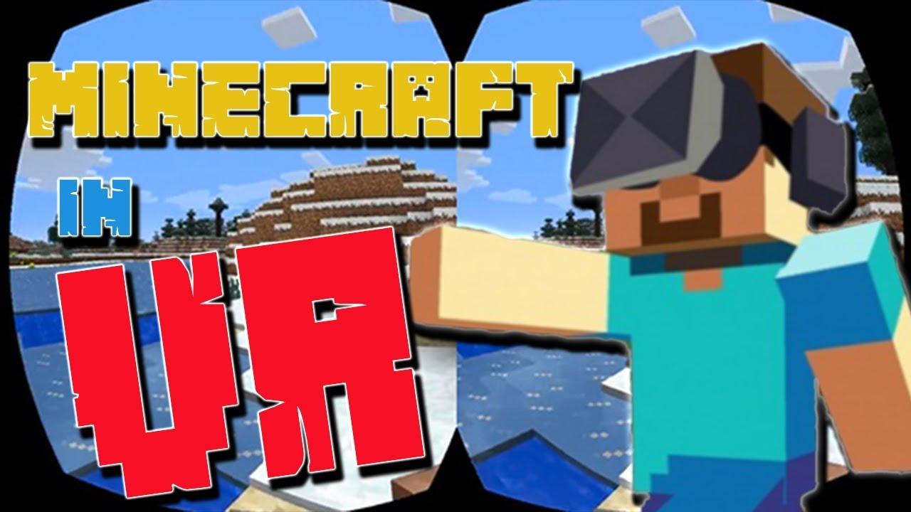 Minecraft In VR Virtual Reality Spielen Tutorial YouTube - Minecraft vr spielen