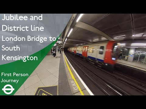 London Underground First Person Journey - London Bridge To South Kensington Via Westminster