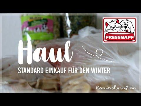 HAUL - das kaufen wir bei Fressnapf / standard Einkauf im Winter 🍎🐰   Kaninchenstar