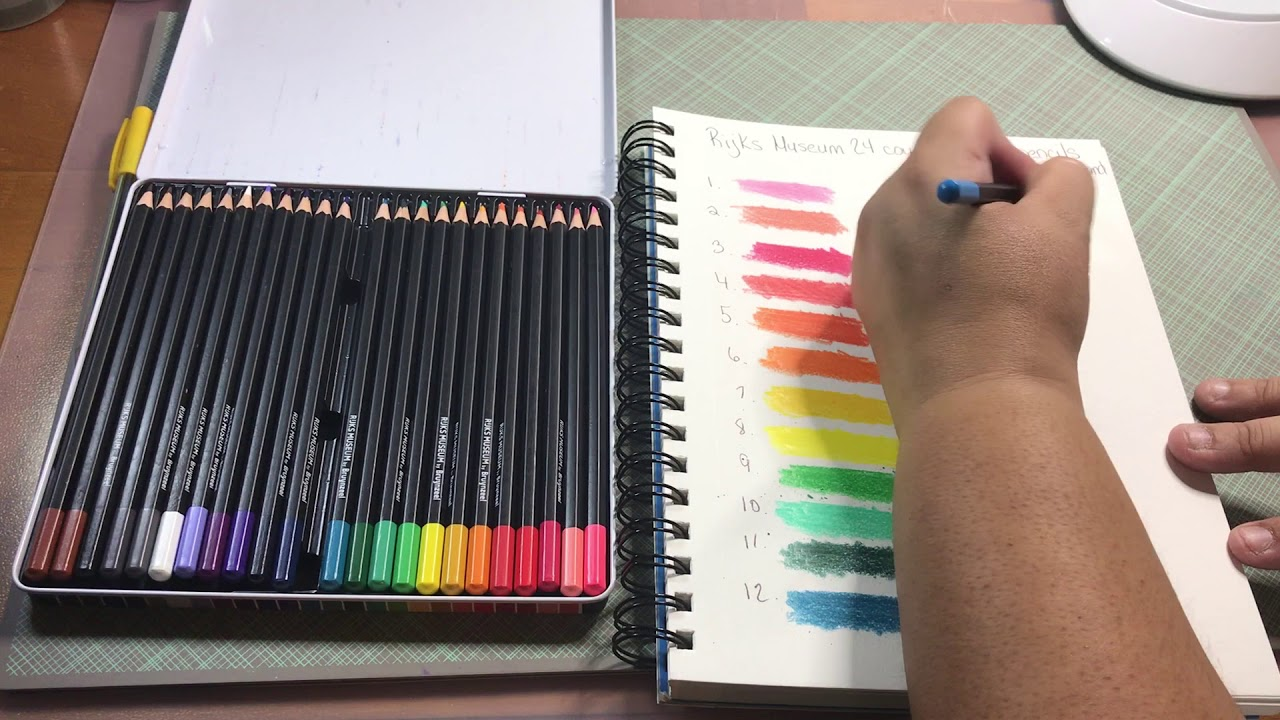 Product Review Brunyzeel Rijks Museum Colored Pencils Youtube