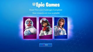 TOUS LES RÉCOMPENSEs DE VALENTINE GRATUIT à Fortnite! (Fortnite Share The Love Event Rewards)