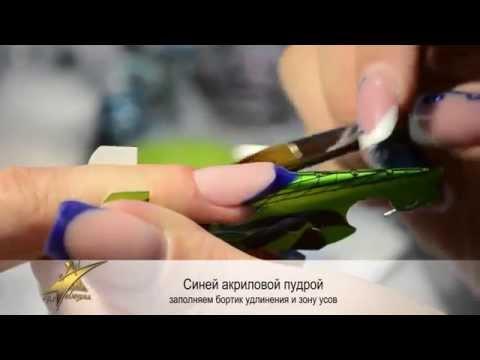 Наращивание ногтей Новогодний френч