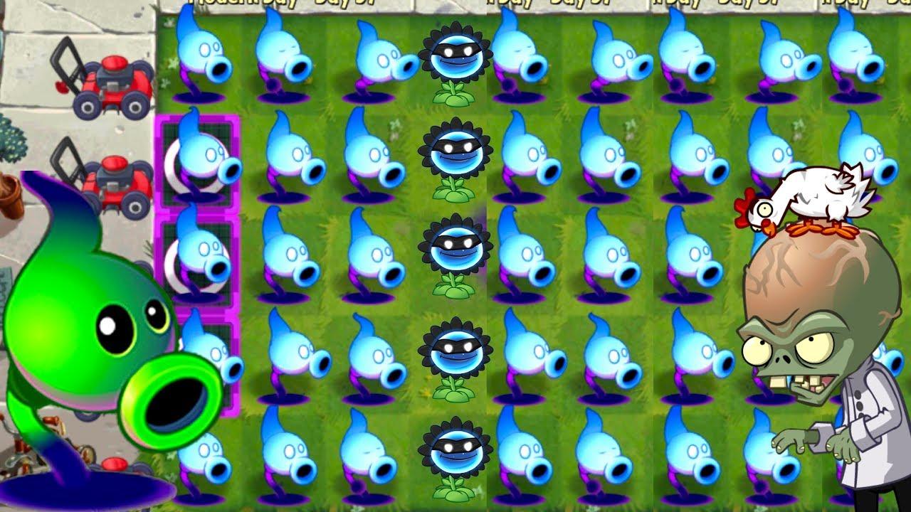 Shadow Peashooter vs Gargantuar Plants vs Zombies 2 Gameplay All Plants  Power UP Mint Power