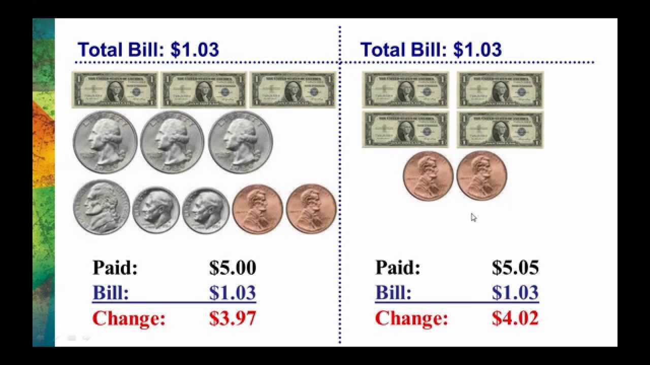 worksheet Counting Change making change with odd amounts of money youtube money