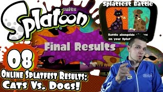Splatoon Online Splatfest Part 8 Finale - Cats Vs Dogs Results! [facecam + Hd1080p + Gamepad]