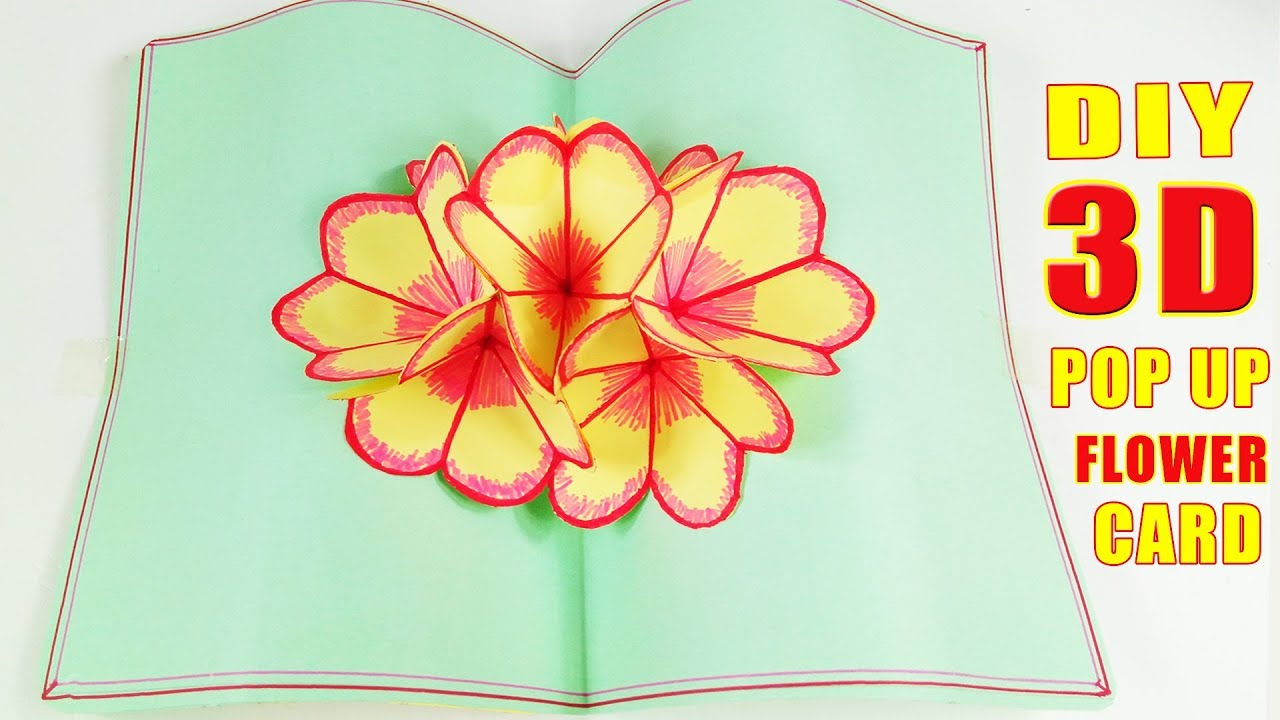 Diy 3d flower pop up card tutorial easy and simple steps diy 3d flower pop up card tutorial easy and simple steps halloween crafts pop up greeting cards m4hsunfo Image collections