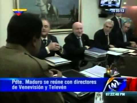Presidente Maduro se reúne con Gustavo Cisneros y directivos de Venevisión