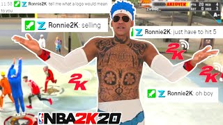 RONNIE 2K Challenged ME For a LOGO, and this happened...