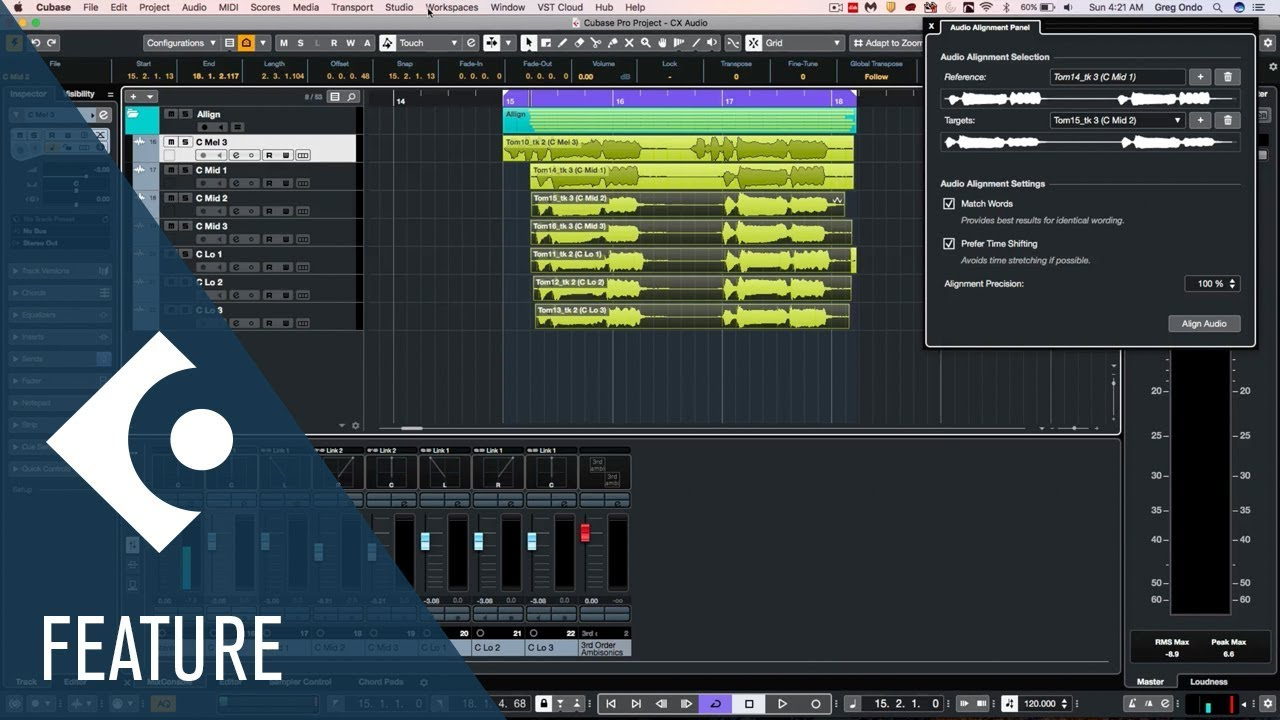 New Integrated Audio Alignment New Features In Cubase 10 Youtube