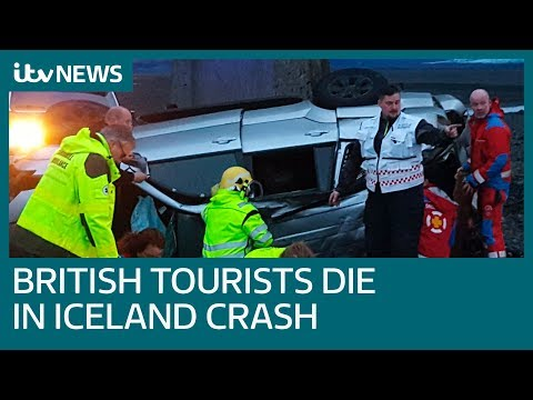 British tourists killed after Land Cruiser plunges off Núpsvötn bridge in Iceland | ITV News