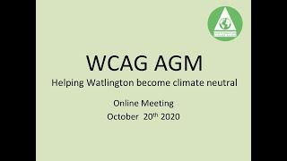 WCAG AGM Oct 2020